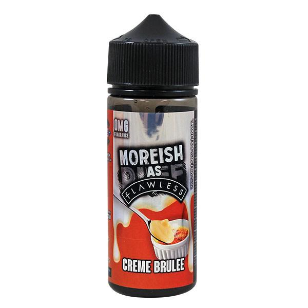 Creme Brulee Custard E Liquid 100ml Shortfill 0mg (120ml with 2 x 10ml Nicotine Shots Making Liquid 3mg) By Moreish As Flawless