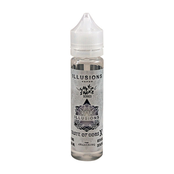 Taste Of Gods X E Liquid 50ml Short Fill 0mg (60ml with 1 x 10ml 18mg Nicotine Shot making 3mg liquid) by Illusions Vapor