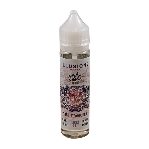 The Prophet E Liquid 50ml Short Fill 0mg (60ml with 1 x 10ml 18mg Nicotine Shot making 3mg liquid) by Illusions Vapor