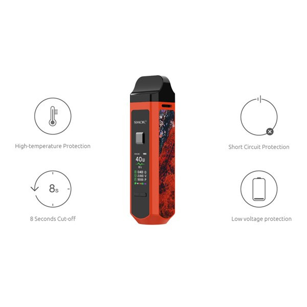 Smok RPM40 - Pod Kit - In-Built Protections