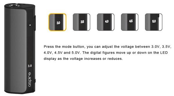 Aspire K Lite Starter Kit - Power Setting Examples