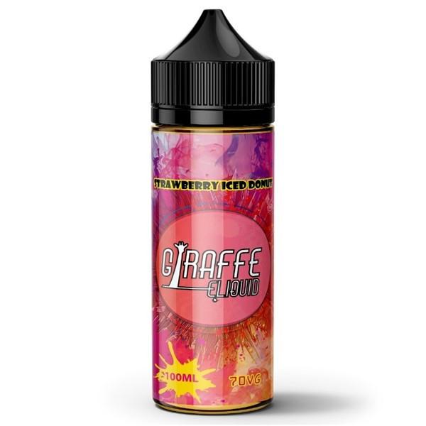 Strawberry Iced Donut E Liquid 100ml by Giraffe (Zero Nicotine & Free Nic Shots to make 120ml/3mg)