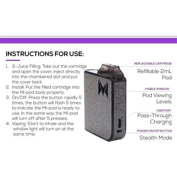 Mi Pod Refillable Starter Kit Specification