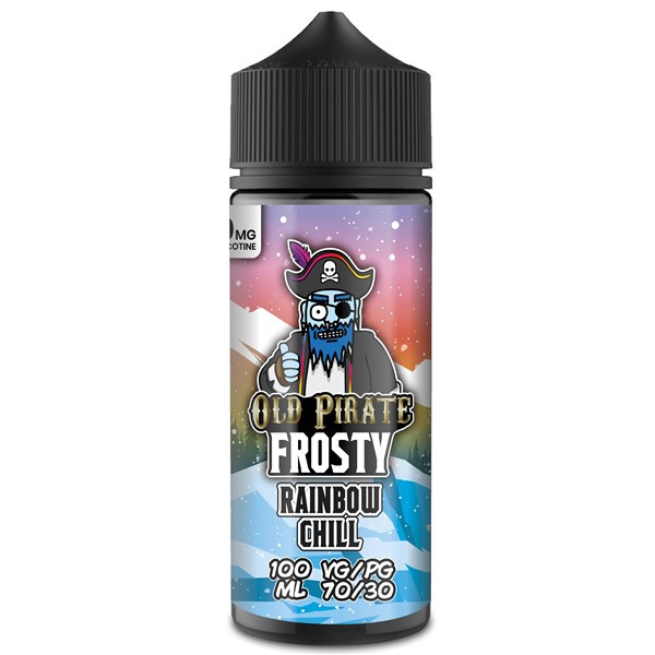Rainbow Chill E Liquid 100ml by Old Pirate Frosty Series