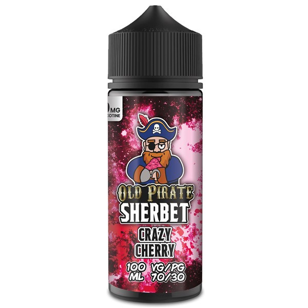 Crazy Cherry E Liquid 100ml by Old Pirate Sherbet Series