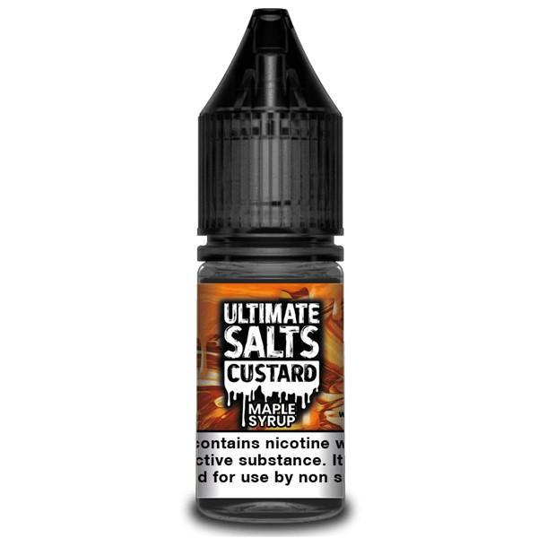 Maple Syrup Custard 10ml Nic Salt E Liquid By Ultimate Salts