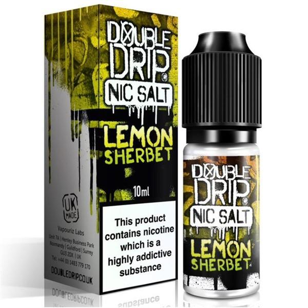 Lemon Sherbet Nic Salt 20mg E Liquid By Double Drip 10ml