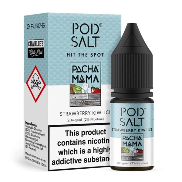 Strawberry Kiwi Ice Charlies Chalk Dust Pacha Mama Nic Salt 20mg E Liquid By Pod Salt