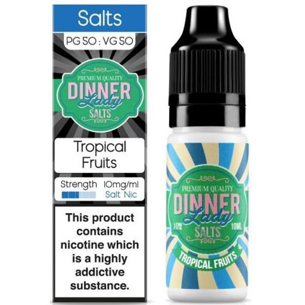 Tropical Fruits Nic Salt E Liquid 10ml By Dinner Lady