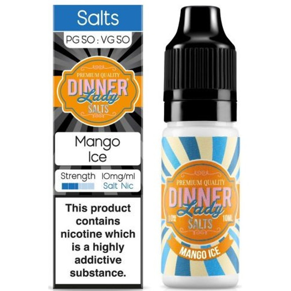 Mango Ice Nic Salt E Liquid 10ml By Dinner Lady