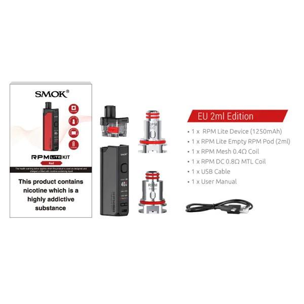 Smok RPM Lite Pod Kit Box Contents