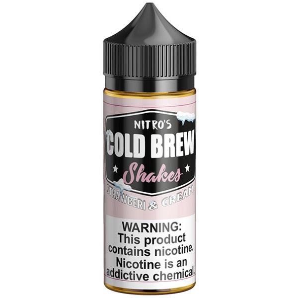 Strawberi & Cream Shakes E Liquid 100ml by Nitro's Cold Brew