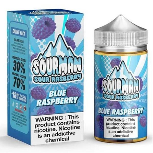 Blue Raspberry E Liquid 200ml By Sourman