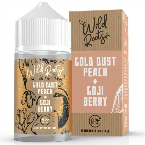 Gold Dust Peach Goji Berry E Liquid 50ml by Wild Roots