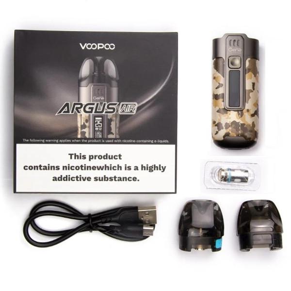 Voopoo Argus Air Pod Kit Box Contents