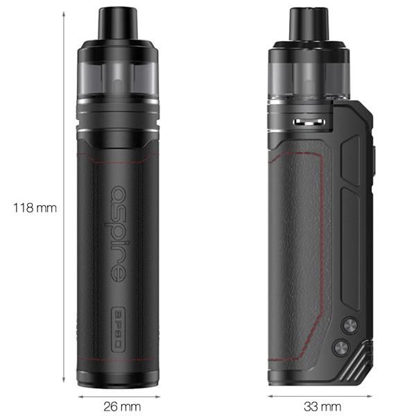 Aspire BP80 Pod Kit Dimensions