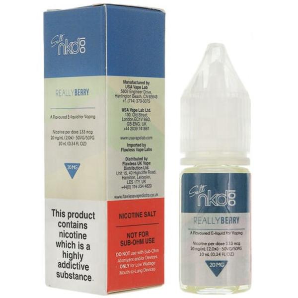 Really Berry Nic Salt E Liquid 10ml by Naked 100