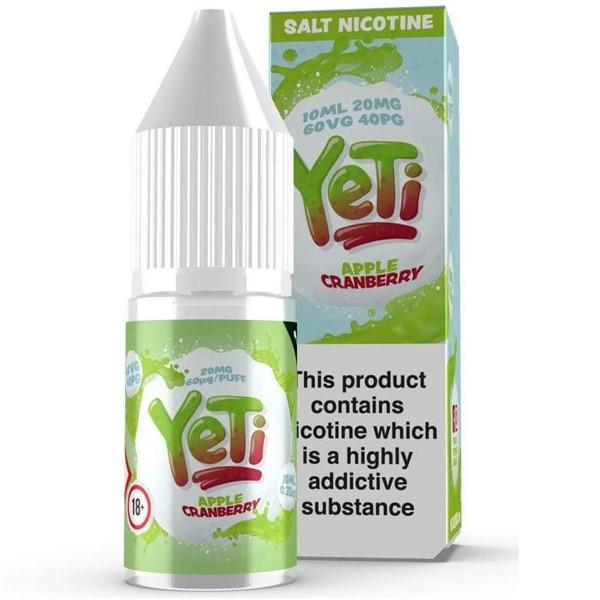 Apple Cranberry Ice Nic Salt E Liquid 10ml By Yeti