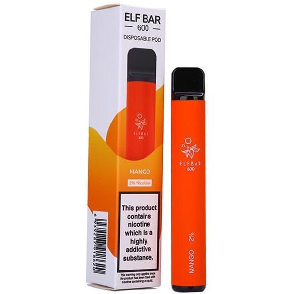 Mango Elf Bar 600 Disposable Pod Device By Elf Bar