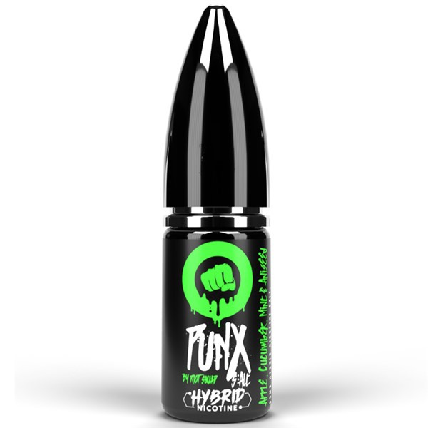 Apple Cucumber Mint & Aniseed Hybrid Salt E Liquid 10ml by Punx Riot Squad