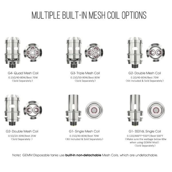 Freemax Gemm 80w Starter Kit Coil Options