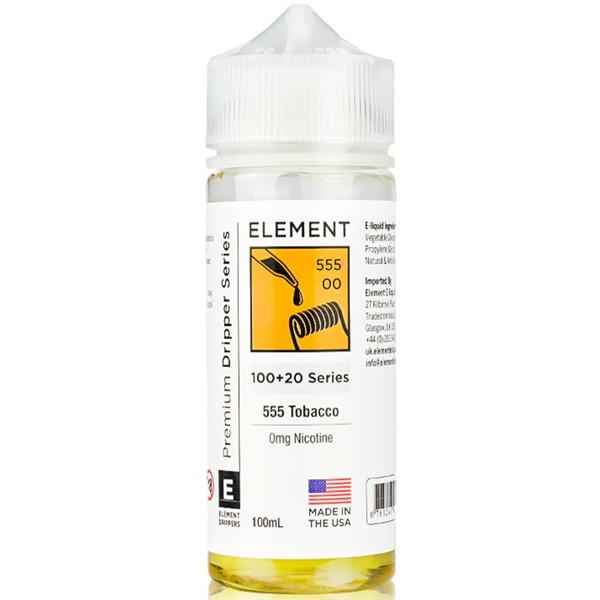 555 Tobacco E Liquid 100ml By Element Dripper Series