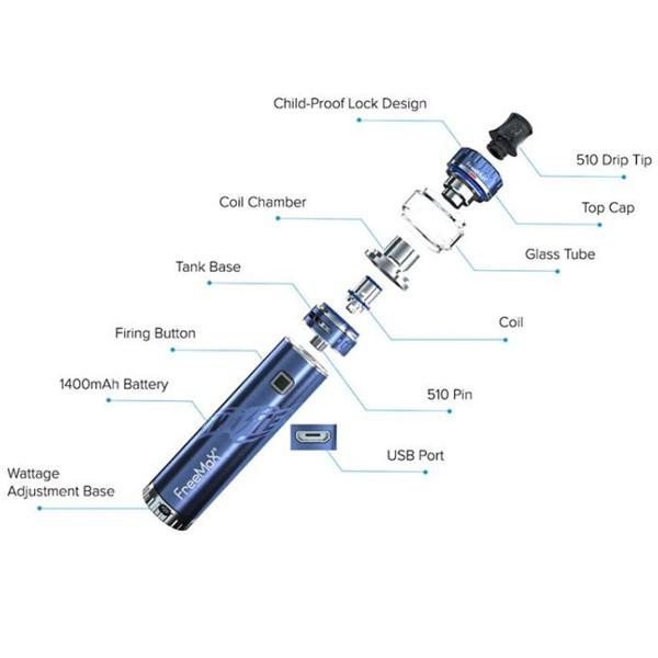 Freemax Twister 30w Kit Components