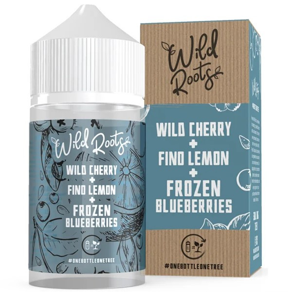 Wild Cherry Fino Lemon & Frozen Blueberries E Liquid 50ml by Wild Roots