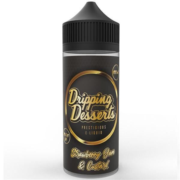 Strawberry Jam & Custard E Liquid 100ml by Dripping Desserts
