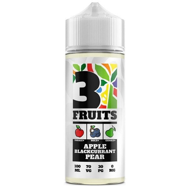 Apple Blackcurrant Pear E Liquid 100ml by 3 Fruits