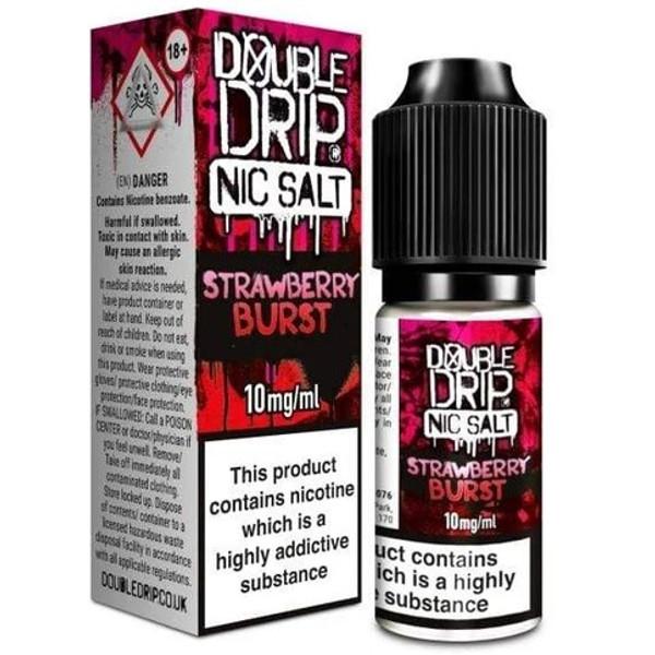 Strawberry Burst Nic Salt 20mg E Liquid By Double Drip