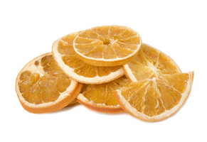 natural dried orange slices in pile