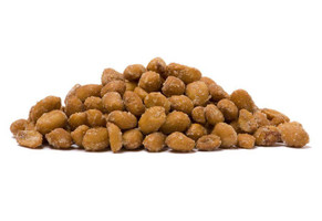 honey roasted peanuts pile