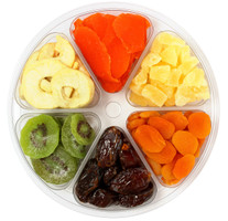 Dried Mixed Fruit Tray top view