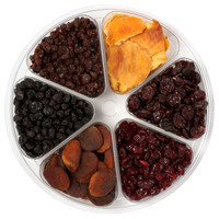 Organic Dried Fruit Gift Tray top view