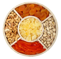 Mixed Fruit & Nut Gift Tray top view
