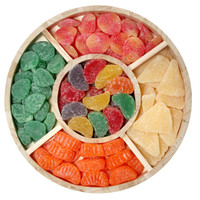 Gummy Fruit Tray top view