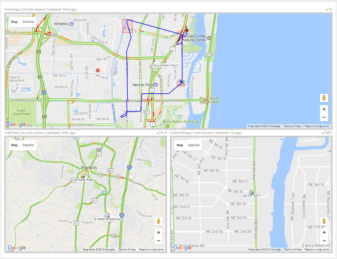 Maps are at the heart of a GPS Tracking System