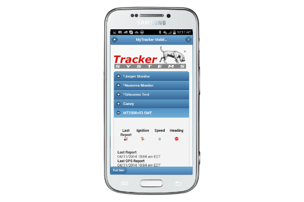 Access TrackerSystems.net on the go from your phone.