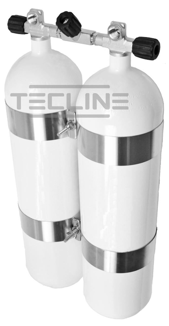 Twin Tank 2x10L 232bar Eurocylinder 171mm