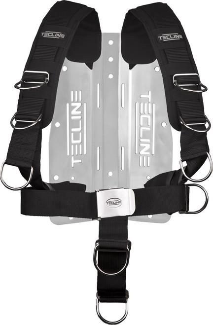 Tecline Harnas Comfort + Back plate RVS 3mm
