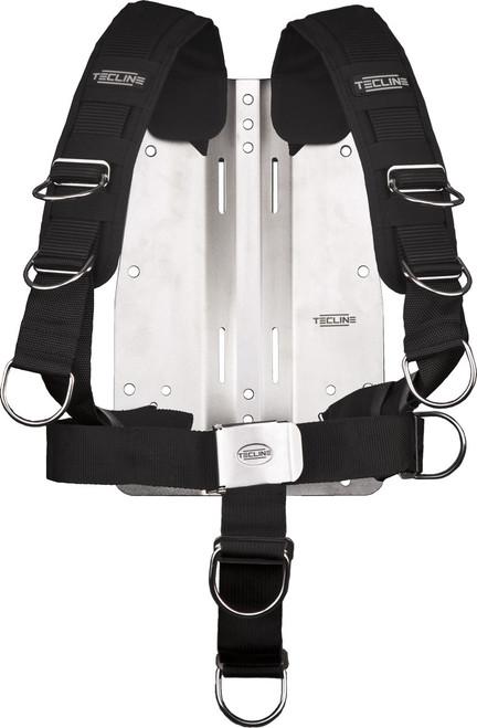 Tecline Harnas Comfort + Back plate RVS 6mm