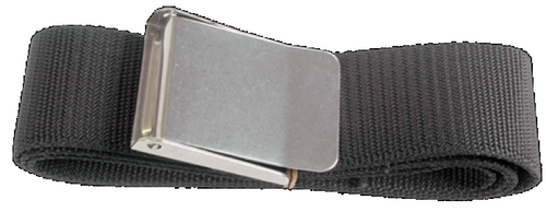 Loodgordel 1.4m Zwart (RVS Buckle)