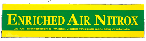 "Sticker ""ENRICHED AIR NITROX"""