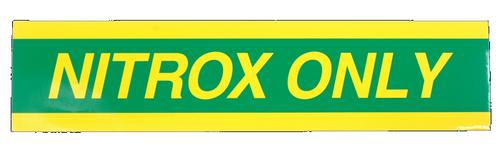 """Sticker """"NITROX ONLY"""" voor Pony Bottle"""