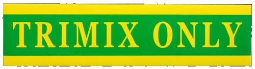 "Sticker ""TRIMIX ONLY"" voor Pony Bottle"