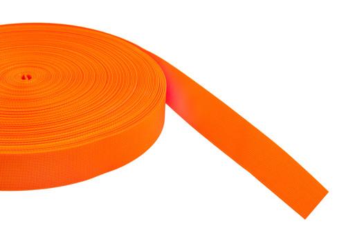 Webbing Zacht Oranje 50mm x 2.2mm