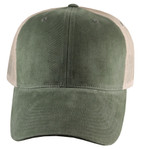 Big Hat Retro Trucker - Moss Green Front