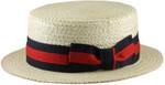 Straw Boater Big Hat Side