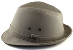 2XL Fedora Hat Khaki Side